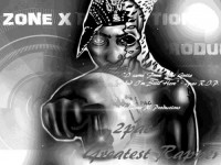 2pac web graphic design in black and white